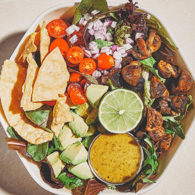 Guac Greens, sub chicken for shrooms – for when you don't have all the ingredients in your pantry to make that vegan taco spread you screenshotted for dinner.