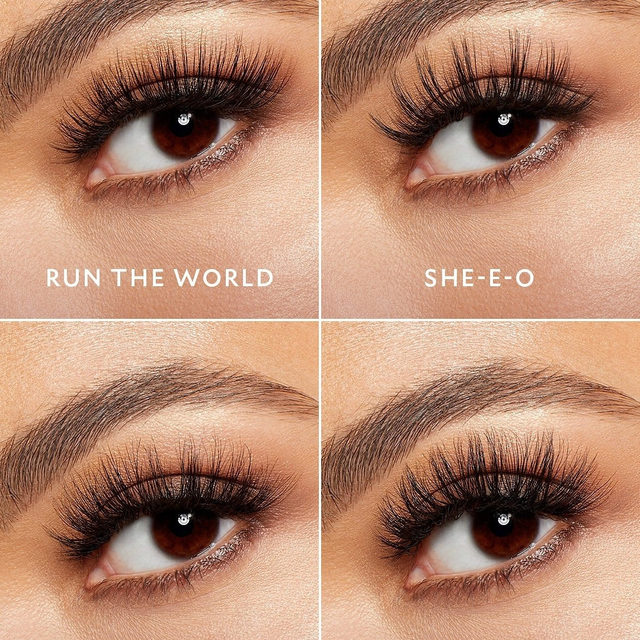 Where are all our boss babes at 👸🏻🙌🏻 These four lashes are from our Fluff'n Boss sub-collection, designed with all our boss babes in mind.  Tap now to shop, or get them all in a bundle exclusively on velourbeauty.com. All of our Fluff'n Glam lashes are available at Sephora 💛  #VelourBeauty #VelourLashes #LiveInLashes #FluffnGlam