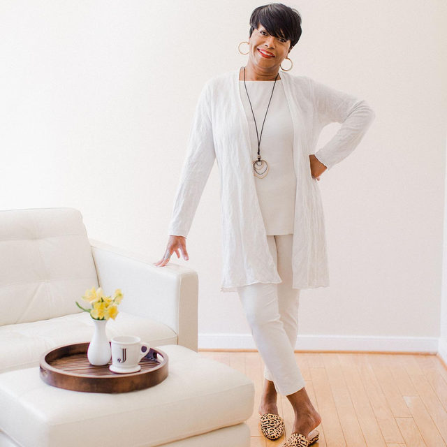 We love how @medleystyle styled two of our cardigans to WFH with her own spin: elevated with ease.