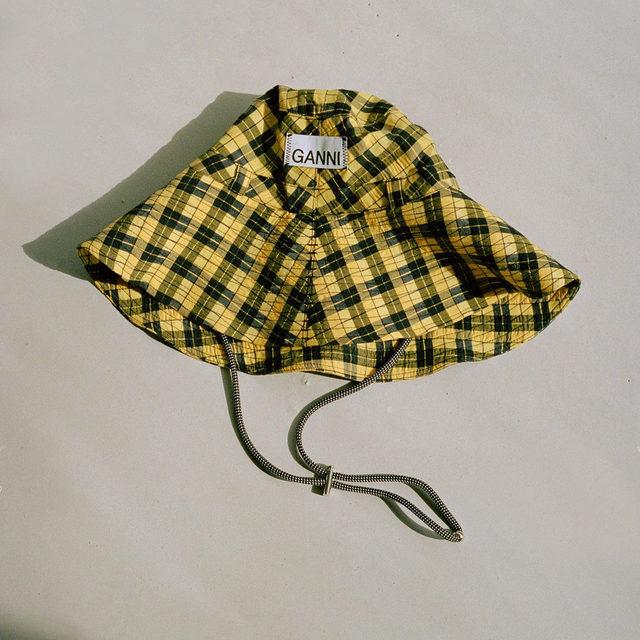 Our seersucker check bucket hat for brighter days ahead 🌼 + GANNI EXCLUSIVES + #GANNIGirls