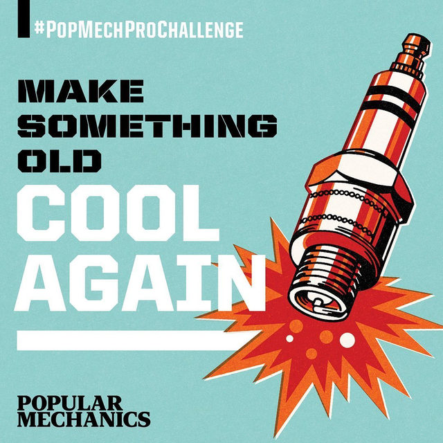 🎉Announcing this month's #PopMechProChallenge!  Your mission for June is to Make Something Old Cool Again, and finish your project by the end of the month. What does that mean? Find an old, worn-out item collecting dust in your garage, workshop, or shed, and repurpose it in the most creative way possible.  Use whatever tools, materials, and budget you'd like—the only limit is your imagination. We just ask that you take something you haven't used in a while and make it the centerpiece of your creation.  The only other rule: Keep showing off your work in progress on Instagram using the #PopMechProChallenge hashtag. All month long, we'll share your builds, answer your questions, and offer our tips.  At the end of June, we'll pick our favorite projects and feature them in the next issue of Popular Mechanics.  And if you need some inspiration, swipe to see some clever ideas, or click the link in our bio to see more ingenious ways to repurpose your old junk. We can't wait to see what you build.  So have at it! Let
