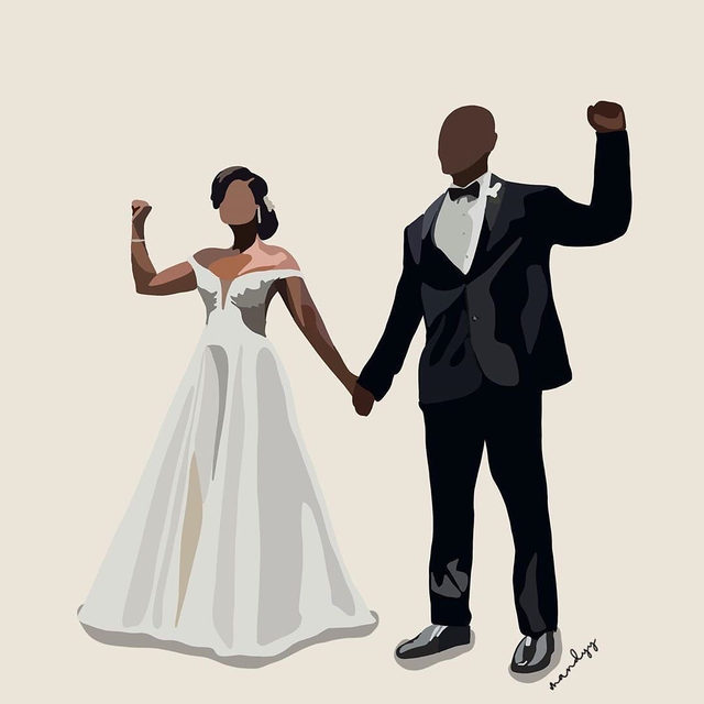 """""""Black lives matter and Black love matters"""" is just one message photographer Linda McQueen hopes this viral wedding moment stands for. ❤️ Head to the #linkinbio for what else we can all learn from this meaningful first look as told by Linda McQueen and Reverend Roxanne Birchfield. 