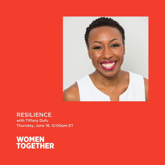 We're excited to talk to Tiffany Dufu of @thecru in our latest Women Together session. Join us in a discussion about cultivating resilience and navigating life's challenges tomorrow at 12 pm EST. This is a free event, please head to the link in our bio to register.