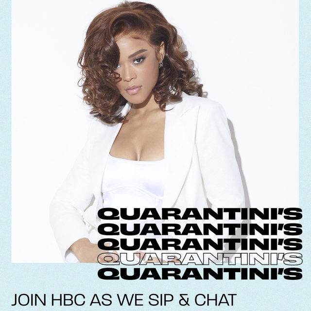 Join @hearstmag_hbc and @serayah for Quarantinis hosted by ELLE's very own @angellenise in an hour, 6PM EST! RSVP at the link in bio. 🍸🍸🍸