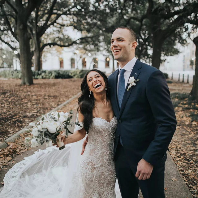 Our face when we read our gorgeous #BridalReflectionsBride @gigidice was featured in @brides magazine! Click the link in our bio to read all about Gina's big day, and how she realized her @leahdagloria Florence gown was the one for her ❤️ — Planning+Design @elysejenningsweddings — Photography @loveisradco Videography @studiovieuxcarre Dressing Location @aceneworleans Ceremony+Reception Venue @ilmercatonola Florist @bellabloomsfloral Catering @joelcatering Bakery @chasingwang Chairs, Tables, Linens @perrierpartyrentals Lounges, Bars, Cake Table @distressedrentals Wood Tables + Ceremony Candles @luminousevents Cocktail Musicians #NewOrleansClassicalandJazz Band @ilovethisbrand @eastcoastentertainment Second Line Band @kinfolkbrassband2020 Second Line Coordinator @frenchmenstreetproductions Hair @anniemontgomeryrush Makeup @bevansmakeup @katiemalonemakeup Stationery @finelineskatonah Program Handkerchiefs @thepolkadottedbee Wedding Dress @leahdagloria Bridal Dress Salon @bridalreflectionsny Veil @galialahav Brid