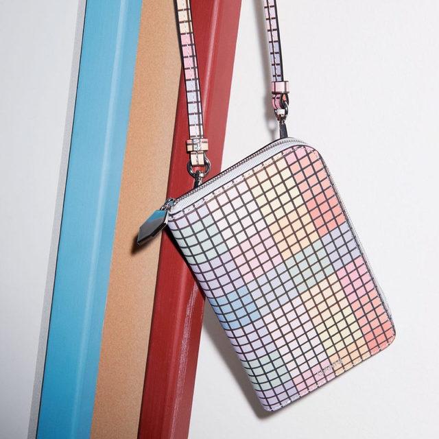 🌈💛🌈💛🌈💛🌈 New rainbow check leather phone bag #GANNI