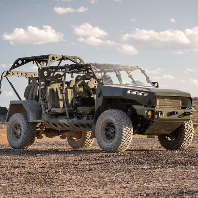The Army's new infantry squad vehicle...is a Chevy? Yep, there's a pickup truck underneath all of that war paint. 🔗Link in bio to learn more. 📸:GM Defense