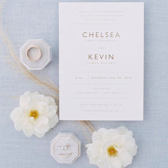 """Clean, simple, and oh so beautiful. Link to invite in bio. ✨  __ """"Ordered Grace"""" wedding invitation by @thatgirlpress Photo: @melanieosoriophoto via @eventsbyrobin . . . #weddingstationery #stationery #weddinginvitations #weddinginvites #weddingstationeryideas #weddingflatlay #flatlay #engaged #weddingideas #weddinginspiration #weddingdetails #weddingphotography #weddingplanning #weddingflowers #justengaged #thatsdarling #pursuepretty #sayido #howtheyasked #marthaweddings #weddingplanner #weddinginvites #weddingflorals"""