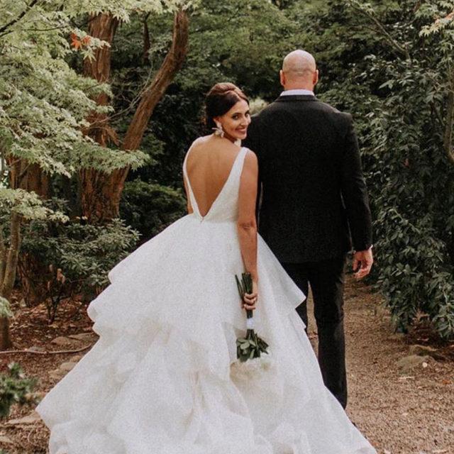 Deep V's and #ruffles please! 🙌😍✨ Milly, Style 5577 ✨ . . . #morilee @madelinegardner #madelinegardner #chic #designerweddingdresses #weddingdesigner #bridal #bridalgown #instawed #weddingseason #realweddings #weddedbliss #weddingshoot #bride2019 #realbride #sayyestothedress #isaidyes #bride2be #pride #love #bridalgowns #bridalgown #modernbride #loveislove #dresscometrue #2020wedding #romantic #brides