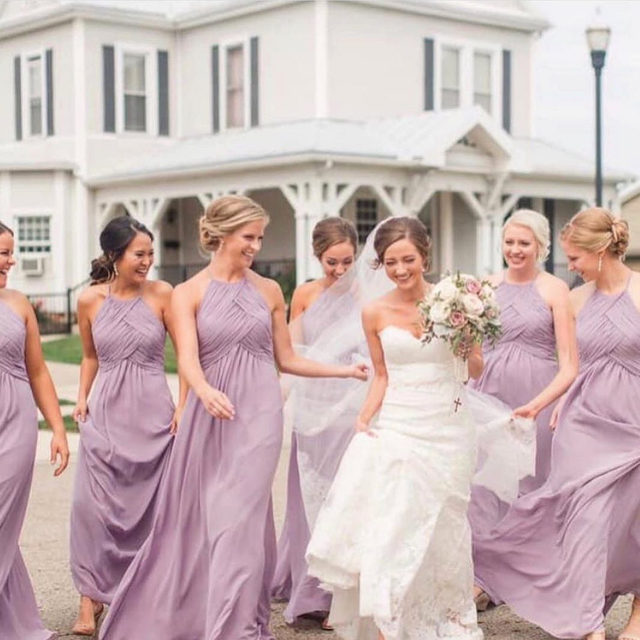 Bridesmaids dresses your girls will #love! 🌸✨ Style 21570 shown in French Lilac ✨ . . . #morilee @madelinegardner #madelinegardner #chic #designerweddingdresses #weddingdesigner #bridal #bridalgown #instawed #weddingseason #realweddings #weddedbliss #weddingshoot #bride2019 #realbride #sayyestothedress #isaidyes #bride2be #pride #love #bridalgowns #bridalgown #modernbride #loveislove #dresscometrue #2020wedding #romantic #brides