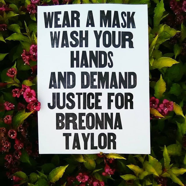 📌 Today's to-do list. Repeat tomorrow, and the next day, and the next, and every day of the week that ends in Y. #wearadamnmask #justiceforbreonnataylor 🎨: @stubbsletterpress