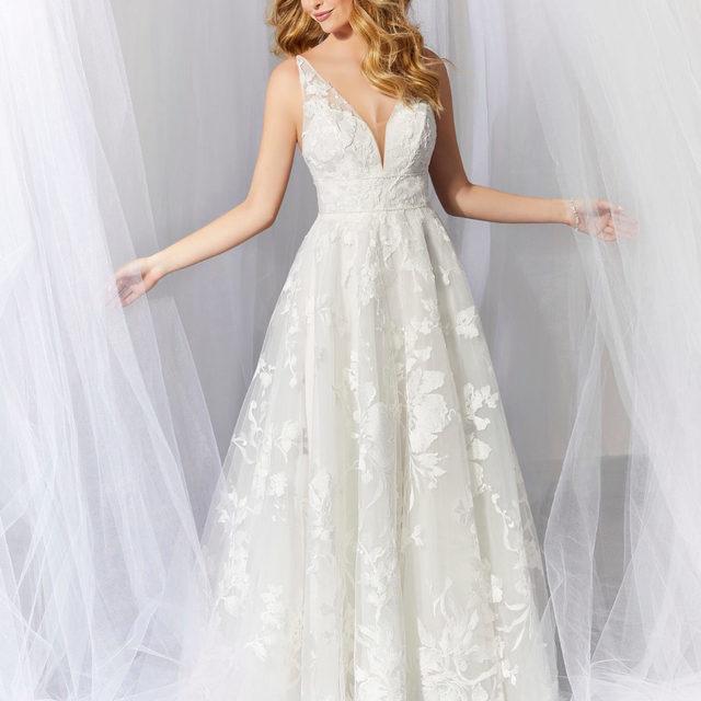 Because fresh #florals don't have to only be for your #bouquet 💐✨ Alaina, Style 6932 featuring a whimsical embroidered floral pattern on delicate Net ✨ . . . #morilee @madelinegardner #madelinegardner #chic #designerweddingdresses #weddingdesigner #bridal #bridalgown #instawed #weddingseason #realweddings #weddedbliss #weddingshoot #bride2019 #realbride #sayyestothedress #isaidyes #bride2be #pride #love #bridalgowns #bridalgown #modernbride #loveislove #dresscometrue #2020wedding #romantic #brides