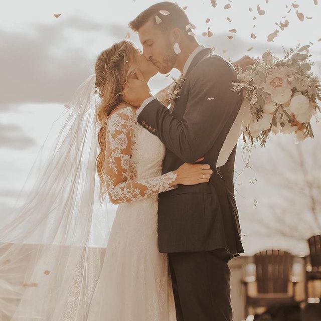 Sealed with a kiss 💋✨ Lorraine, Style 8276 ✨ . . . #morilee @madelinegardner #madelinegardner #chic #designerweddingdresses #weddingdesigner #bridal #bridalgown #instawed #weddingseason #realweddings #weddedbliss #weddingshoot #bride2019 #realbride #sayyestothedress #isaidyes #bride2be #pride #love #bridalgowns #bridalgown #modernbride #classicbride #dresscometrue #2020wedding #romantic #brides
