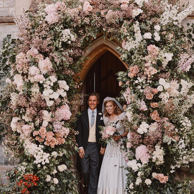 You can't stop love—even the royals think so. 👑 Congrats to Princess Beatrice who secretly tied the knot at Windsor! Head to the #linkinbio for everything we know about her private royal wedding. 📸: @benjaminwheeler