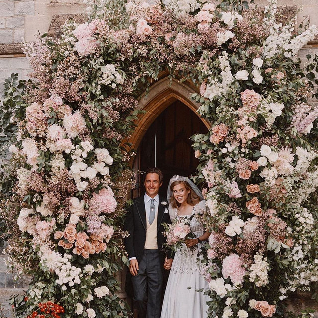 #PrincessBeatrice and Edoardo Mapelli Mozzi's surprise wedding had a very low-key reception at the Royal Lodge. Link in bio for all the details on the understated affair. 📸: Benjamin Wheeler, via @theroyalfamily