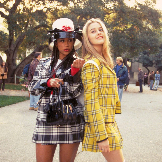 """""""The yellow suit is Dolce & Gabbana, off the rack,"""" #Clueless costume designer @itsmonamay told ELLE.com. """"I spent the money. We tried so many different things for the yellow suit. We tried red, we tried blue, and then she put the yellow suit on and [Alicia] became like a ray of sunshine."""" In honor of the film's 25th anniversary, May looks back on her most iconic looks. Link in bio. 📸: Everett"""