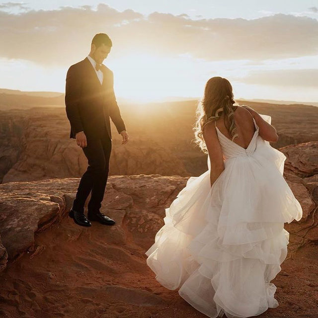 Talk about a breathtaking back drop!! 😍☀️✨ Ravenna, Style 5776 ✨ . . . 📸 @jordanbreee @fantasybridalut #morileebride  @madelinegardner #madelinegardner #goldenhour #designerweddingdresses #weddingdesigner #bridal #bridalgown #instawed #weddingseason #realweddings #weddedbliss #weddingshoot #bride2019 #realbride #sayyestothedress #isaidyes #bride2be #pride #love #bridalgowns #bridalgown #modernbride #classicbride #dresscometrue #2020wedding #romantic #brides