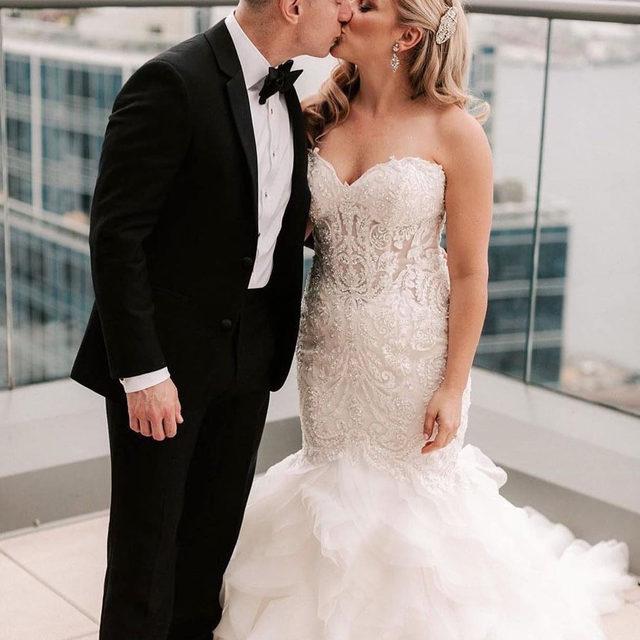 Old Hollywood #glam 😍  Muse, Style 8177 ✨ . . . #morilee @madelinegardner #madelinegardner #chic #designerweddingdresses #weddingdesigner #bridal #bridalgown #instawed #weddingseason #realweddings #weddedbliss #weddingshoot #bride2019 #realbride #sayyestothedress #isaidyes #bride2be #pride #love #bridalgowns #bridalgown #modernbride #classicbride #dresscometrue #2020wedding #romantic #brides