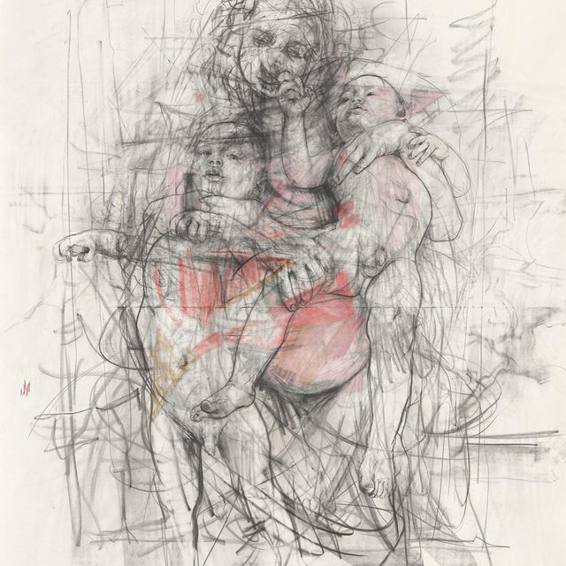 """#GagosianSpotlight: In our """"Shortlist"""" series, artists and writers talk about works of art, literature, film, or music that have influenced their work or are at the forefront of their minds today. Jenny Saville shares a selection of the books, films, and more that have been her companions amid the shutdown in recent months and as she looks ahead to a new exhibition next year. Follow the link in our bio.  To conclude Artist Spotlight, a new self-portrait made by Jenny Saville to commemorate her fiftieth birthday earlier this year will be unveiled tomorrow at 6am EDT. Keep an eye out!  _________ #JennySaville #GagosianQuarterly #Gagosian Jenny Saville, """"Study for Pentimenti I,"""" 2011 © Jenny Saville"""