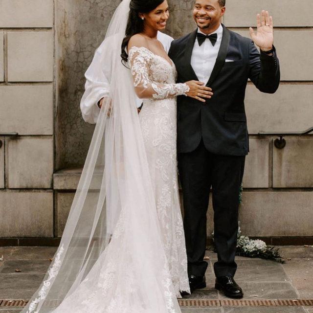 Newlywed bliss 💕✨ Pura, Style 2032 ✨ . . . #morilee @madelinegardner #madelinegardner #chic #designerweddingdresses #weddingdesigner #bridal #bridalgown #instawed #weddingseason #realweddings #weddedbliss #weddingshoot #bride2019 #realbride #sayyestothedress #isaidyes #bride2be #pride #love #bridalgowns #bridalgown #modernbride #classicbride #dresscometrue #2020wedding #romantic #brides