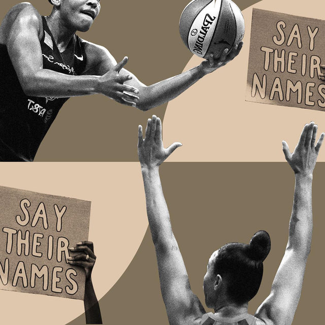 """""""On the heels of anew collective bargaining agreement, the @wnba isdedicating its entire seasonto the Black Lives Matter movement. After @lvaces star @mccoughtry tweeteda jersey mockup with Breonna Taylor's name in lieu of her own, the WNBA—among the most progressive sports leagues in the country—announcednew uniforms to 'seek justice for the women and girls, including Sandra Bland, Breonna Taylor, Vanessa Guillen, and many more who have been the forgotten victims of police brutality and racial violence.' But over in the @nba, which restarted its 2020 season this week, players can choose from a selection of 29 pre-approved statements including Black Lives Matter; Say Her Name; Vote; I Can't Breathe. It's not enough. 'Say Her Name' is the only one that seems to acknowledge the disproportionate number of Black women and girls who havegone missing in the U.S.and who often remain an afterthought in the outrage over police violence."""" The WNBA Is Wearing Breonna Taylor's Name On Jerseys. The NBA Should, Too."""
