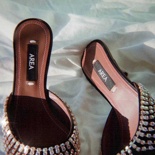 DANCING SHOES • the area crystal fringe kitten heels - link in bio to shop