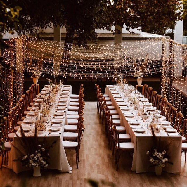 A backyard wedding has never looked this pretty. 💫 Head to the #linkinbio for 40 ways to transform your home into the wedding venue of your dreams! 📸: @ayeh.kphotography