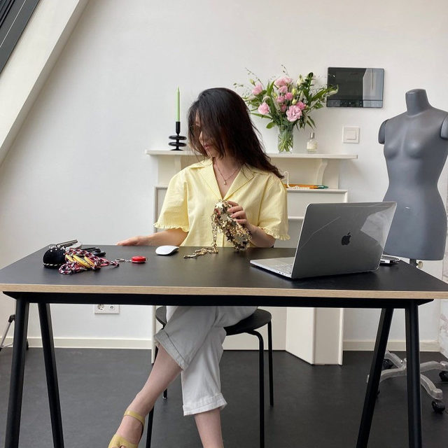 Spotted: @nas__iam working from home in #Raey. Share your #WFH wardrobe with us by tagging @raeyofficial.