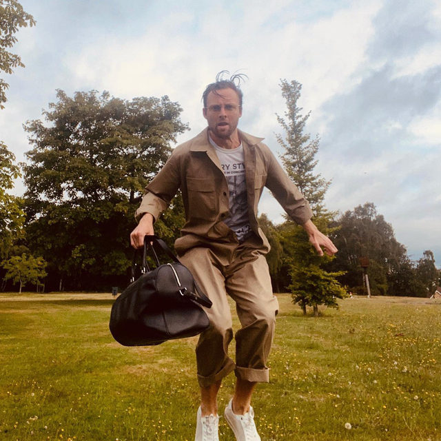 Jump for joy. @christensenmike wearing #Raey - thank you for sharing! We love seeing the pieces making up your warmer weather wardrobe, share yours by tagging @raeyofficial and #Raey.