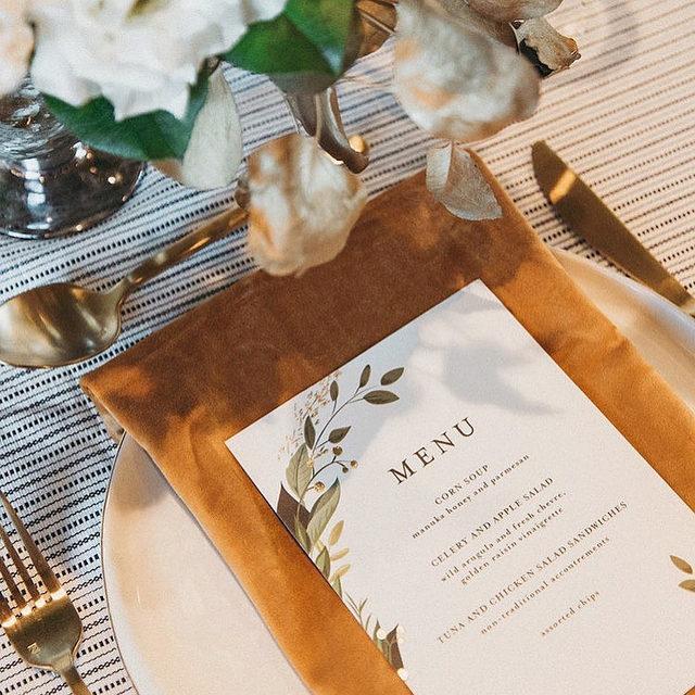 "Need a menu to match your big day? We've got plenty to choose from. Head to our #linkinbio to browse!  __ ""Vines of Green"" menu design by @susanmoyal Photo: @themitchellphotocollection via @iraandlucy . . . #engaged #weddingideas #weddinginspiration #weddingdetails #weddingphotography #weddingplanning #weddingflatlay #justengaged #thatsdarling #pursuepretty #theknot #sayido #howtheyasked #marthaweddings #weddingseason #engagementseason #weddingplanner #weddinginvites #savethedate #weddingflorals #menudesign #weddingmenu #weddingreception"