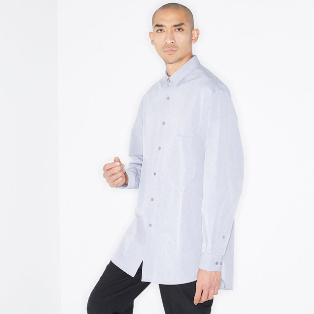Crisp. #Raey's batwing-sleeve shirt forming the building blocks of your wardrobe. Shop now at @MATCHES_MAN.