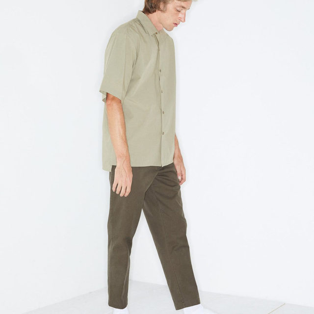 Khaki. #Raey tapered chino trousers. Available at @MATCHES_MAN.