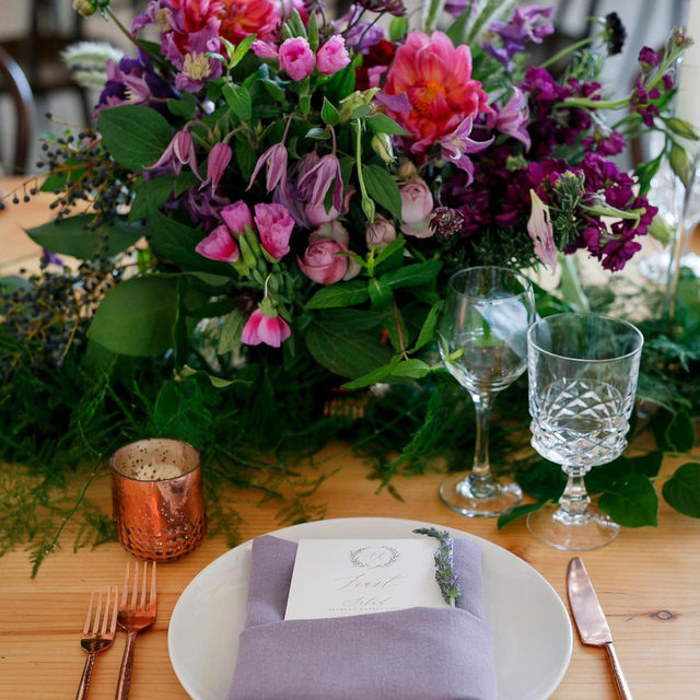 I don't think we've ever liked purple more 🦄🍇🎆🔮 Throwing it back to this stunning #wedding from @wildskyevents and @exquisitepetals with our #tuscanylinen Napkins in Thistle 📷 @jennydemarcoweddings   #latavolalinen #transformyouratble #linen #linennapkin #naturallinen #purple #purplewedding #jeweltones #gardenwedding #purpleandgreen #farmtable #weddingdesign #weddingdetails #texas #texasbride #austintx #drippingsprings