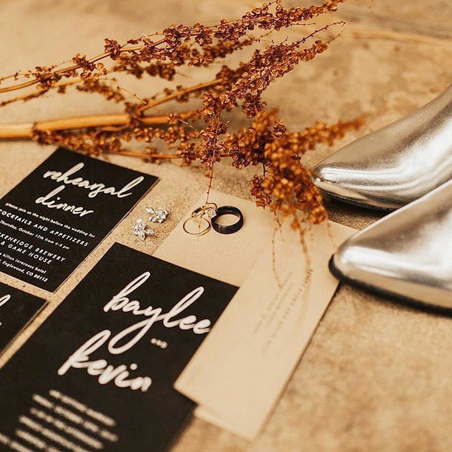 "When rustic meets disco vibes 💎  __ ""Funky Names"" invitation suite by @phrosneras Photo: @abbeyricephoto via @sugarwillowevents  Styling: @erinashleydesign . . . #weddinginvite #weddingstationery #wedding #weddinginspo #weddingphotography #weddingstationeryideas #weddingflatlay #flatlay #engaged #weddingideas #weddinginspiration #weddingdetails #engaged #invitations #weddingplanning #savethedate #mintedweddings #changethedate"