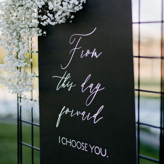 From this day forward, I choose you.   __ Photo: @raelen.photography via @eventsbyedz  Florals: @harperroadfloral