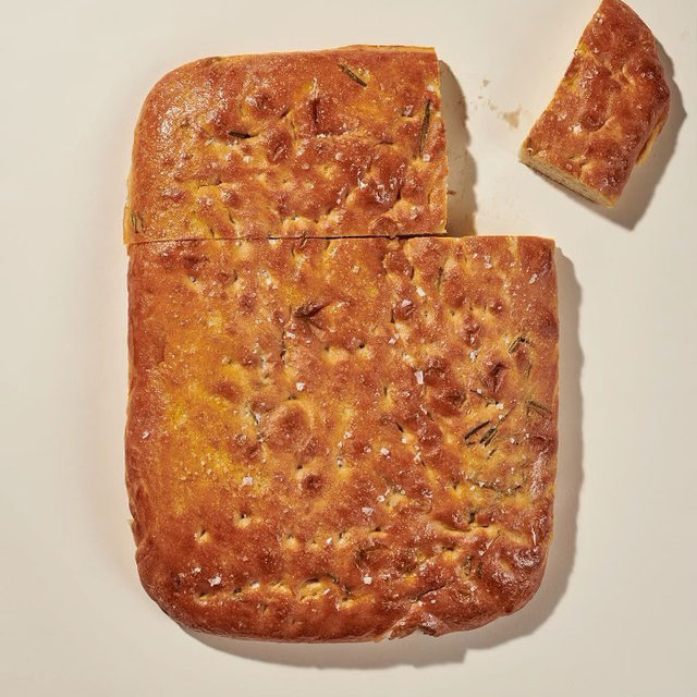 Our Rosemary Focaccia is locally made — which means it's a little different depending where you live. Uniquely made by 10 of our baker friends (who already supply our wheat bread), it's a pillowy side that's good for halving/sandwiching/scooping up the last bits of greens. Head to our IG story to learn more about our breadmakers. #BreadWeek