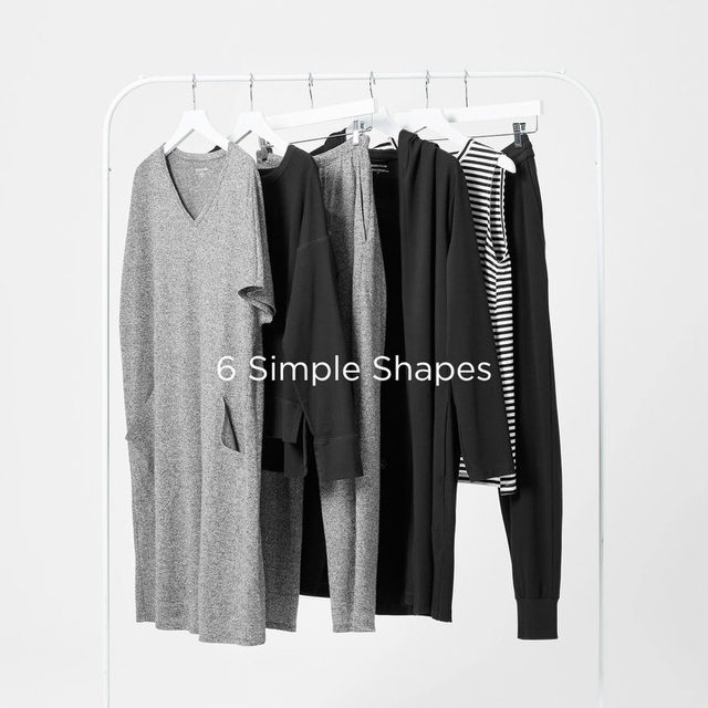 Do more with less: introducing our 6 Simple Shapes, everything you need to get dressed right now. This capsule is the foundation to build a wardrobe you love—and keep building it over time. Shop the link in bio to shop.
