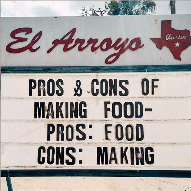 Basically, we're saying get it delivered. 📸: @elarroyo_atx