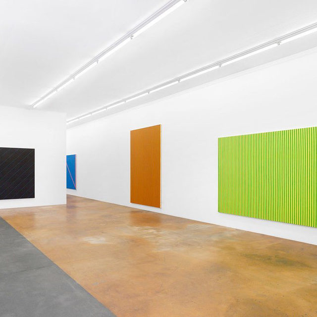 """A retrospective of work by Olivier Mosset is on view at the Musée d'art moderne et contemporain, Geneva, through December 6.  Mosset's retrospective reviews his career over almost sixty years, from the early experiments of the 1960s to his monumental recent works, via the painter's reflections on artistic appropriation, monochrome painting, and shaped canvases. In addition to his own work, several rooms are devoted to movements and artists with whom Mosset was or remains closely associated, allowing the viewer to consider his work in a variety of different contexts. __________ #OlivierMosset #MAMCO #Gagosian @mamco_geneve Installation views, """"Olivier Mosset,"""" Musée d'art moderne et contemporain, Geneva, February 25–December 6, 2020. Photos: Annik Wetter"""