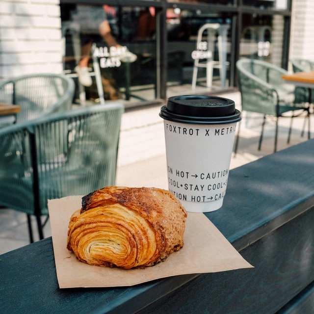 POV: You on our patio enjoying a nice cup of locally brewed coffee and one of @mindysbakery croissants (trust us when we say this is the only way to start off your day).