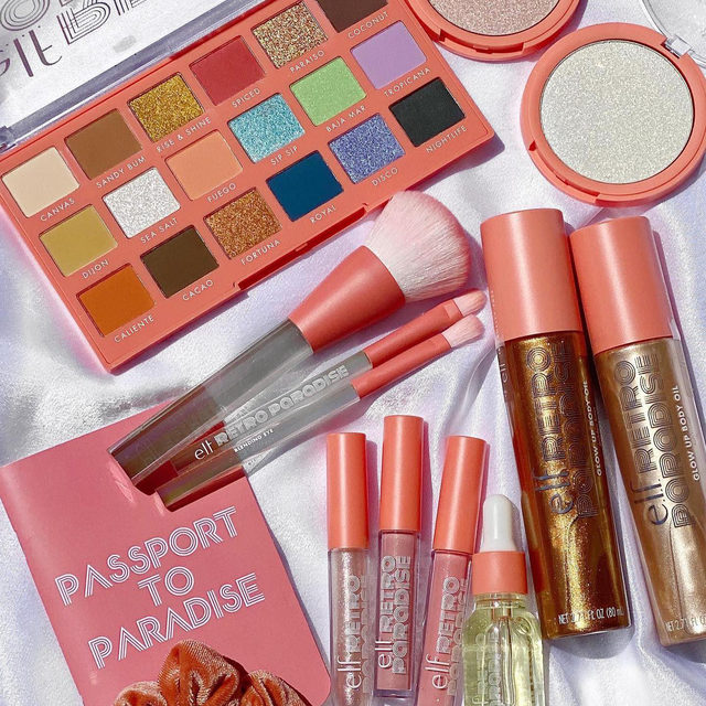 Summer isn't over yet ☀️Our limited-edition Retro Paradise Collection has the hues of sun-soaked beaches and the tropics 🌴🌊Shop now on our website and exclusively at target! 📷cali_beaute #eyeslipsface #elfingamazing #elfcosmetics #crueltyfree #vegan