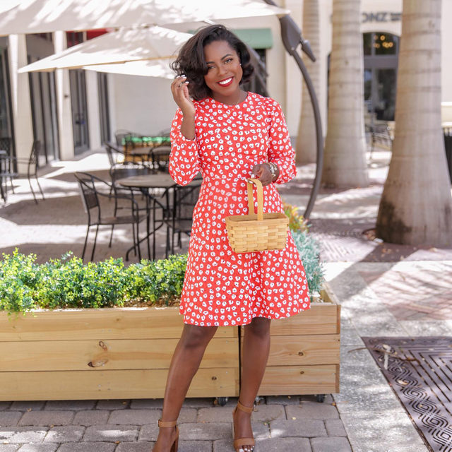 """""""I really love wearing red,"""" says Miami blogger Sabine Jean of her go-to confidence color ❤️❤️ """"Who says 'classic' can't be fun?"""""""