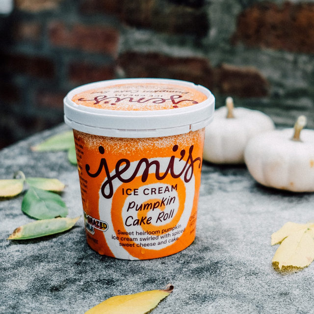 Was that a leaf we heard falling off a tree? Yep—that means it's pumpkin time! First up? Our old faithful, Jeni's Pumpkin Cake Roll.