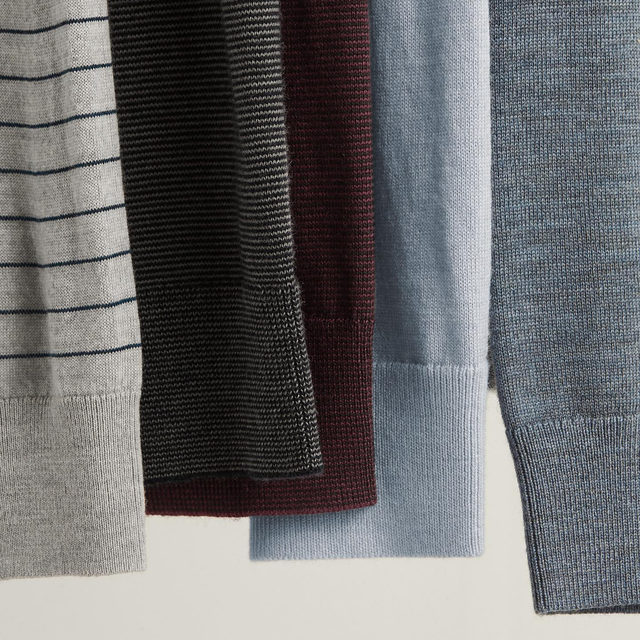 When it comes to sweaters....stripes or solids? Sound off below ⤵️