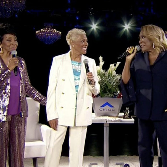 What's better than a @msgladysknight and @mspattilabelle #Verzuz battle? A Gladys Knight and Patti LaBelle Verzuz battle with a third musical giant making a surprise guest appearance: @therealdionnew. Tap the bio link to read our full recap on the legendary night!