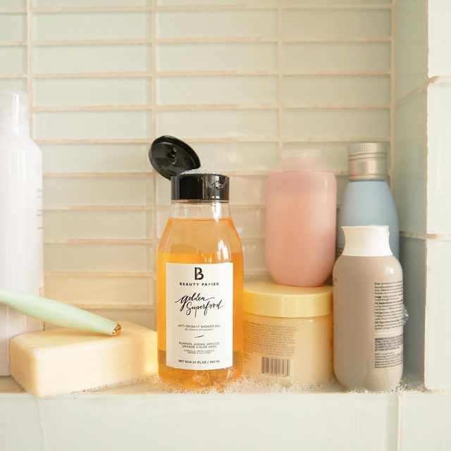 Feed your skin well with @beautypapier's Golden Superfood Shower Gel ✨ This body wash is packed with superfoods like pumpkin and apricot to revitalize your shower routine. Get beauty items like this when you become a member. Link in bio!