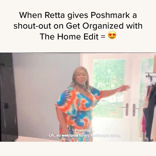 Anyone else catch @unforettable give Poshmark a shoutout on the fifth episode of Get Organized with @thehomeedit on @netflix?! 👀 Tap our link in bio to check out her closet! 🤩 #TheHomeEdit #GetOrganized