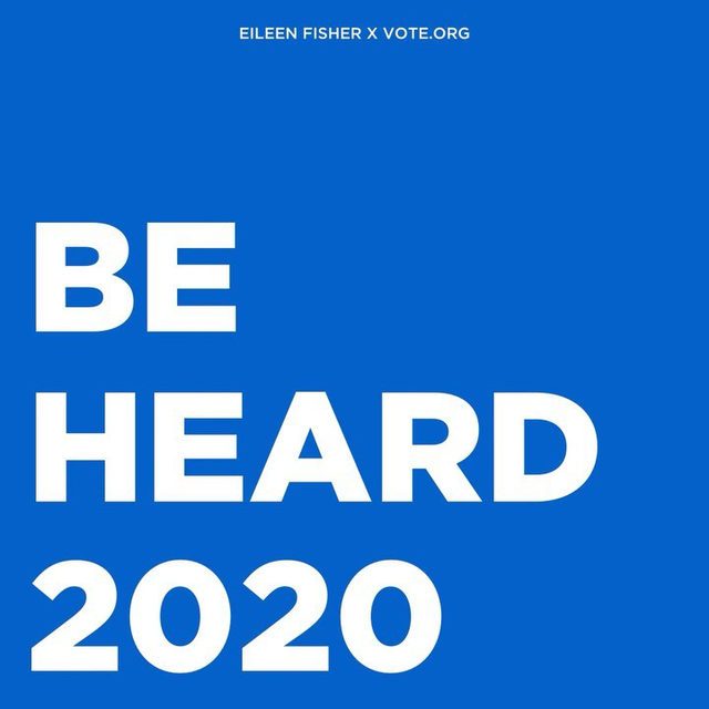 Be heard in 2020: We believe in using our platform for good. For over 30 years, we've been united in our efforts to support the environment, human rights, and initiatives for women and girls. We're 49 days away from an election it is essential we all vote in, which is why we've partnered with @votedotorg to bring you information and resources to empower your voice. Be heard in 2020 and vote!