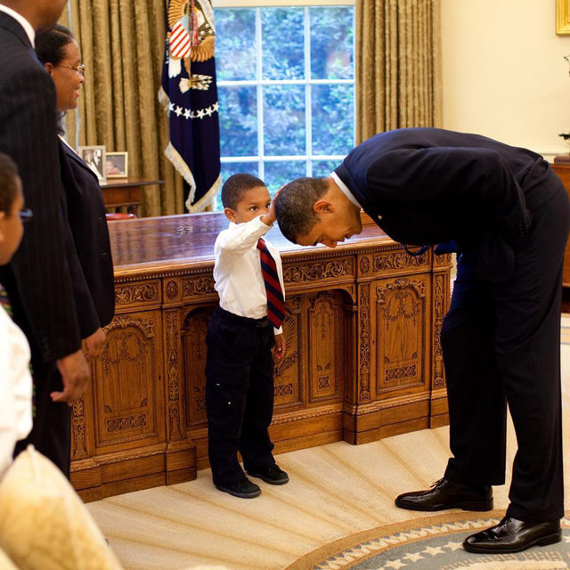 "The photo of five-year-old Jacob Philadelphia patting President Obama's hair in the West Wing remains one of the most enduring images of Obama's years in the White House—and White House photographer Pete Souza almost didn't get the image. ""I got one photo, and it was gone,"" Souza recalls of the fleeting moment in the new documentary #TheWayISeeIt, a reflection on his years as the official White House photographer for Obama and Reagan. At the link in bio, Souza reflects on his iconic imagery and the unique experience of creating the new documentary."