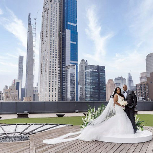Sharisse and Thurman had a beautiful wedding planned at a sprawling Long Island estate in July 2020. Like many other couples, COVID-19 interfered with their grand wedding plans, and their date was postponed to 2021. In the meantime, they decided on a smaller ceremony on the rooftop at the Mandarin Oriental hotel in New York City's Columbus Circle. Tap the bio link to read more on their big day.